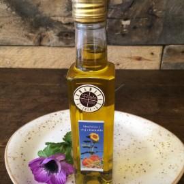 Domáci slnečnicový olej s hokaido