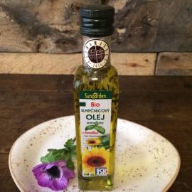 BIO slnečnicový olej panenský s bazalkou