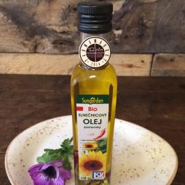 BIO slnečnicový panenský olej s chili papričkou