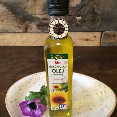 BIO slnečnicový panenský olej s cesnakom