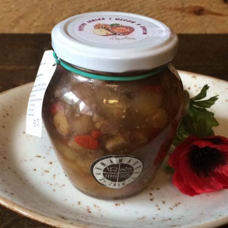 Pečené jablká s medom a ovocím